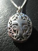 Locket with cross (SL13)